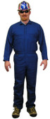 Indura Cotton Royal Blue Flame Resistant Coveralls  pic 1