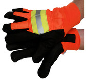 Premium Grain Pigskin Waterproof Driver Glove with Reflective Stripes (PAIR) - All Sizes