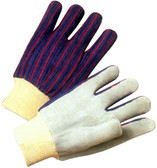 Economy Leather Palm Work Glove w/ Knit Wrists Pic 1