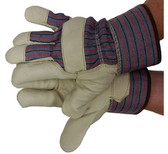 Premium Pigskin Gloves w/ Thinsulate Lining & Safety Cuffs Pic 1