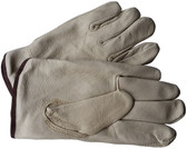 Premium Pigskin Driver Leather Work Gloves w/ Fleece Lining (Sold by Dozen) - All Sizes