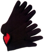 Fleeced Lined Brown Jersey Gloves (Sold by Dozen) All Sizes