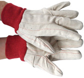 Cotton Red Line Gloves with Red Wrist Pic 1