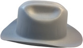 Outlaw Cowboy Hardhat with Ratchet Suspension Gray Side View