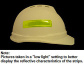 Reflective Strips for Hard Hat Lime Color pic 1