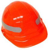 360 Degree Silver Wrap Around Sticker for Hard Hat pic 1