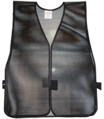 PVC Coated Plain Safety Vest Black pic 2