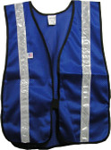 Soft Mesh Royal Blue Vests with Silver Stripes