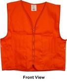 Orange Plain Safety Vests with Pockets pic 4