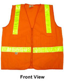 Orange MESH SURVEYOR Safety Vests CLASS 2 with Lime Stripes  pic 4