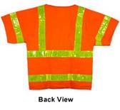 Class Three, ANSI 2004 SLEEVED ~ MESH ORANGE Safety Vests ~ Lime Stripes