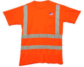 Class Three Level 2 ORANGE Safety MESH SHIRTS with Silver Stripes Pic 3