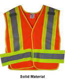 ANSI 207-2006 Public Service Safety Vests ~ Orange with Lime/Silver Stripes ~ 5 point Velcro Tear-Away pic 2