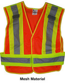 ANSI 207-2006 Public Service Safety Vests ~ MESH Orange with Lime/Silver Stripes ~ 5 point Velcro Tear-Away pic 2