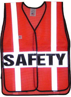 Pre-Printed Safety Vests