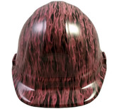 Pink Flame Hydro Dipped Hard Hats Cap Style