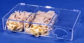 3-Compartment Glove Dispenser Amber  Pic 1