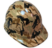 Camo Bootie Khaki Hydro Dipped Hard Hats Cap Style