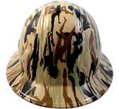 Camo Bootie Khaki Hydro Dipped Hard Hats Full Brim Style