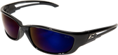 Kazbek XL Safety Glasses ~ Blue Mirror Lens
