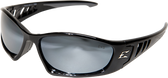 Edge Baretti Safety Glasses ~ Black Frame, Silver Mirror Lens