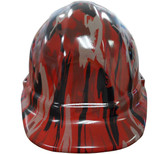 Camo Bootie Red Hydro Dipped Hard Hats Cap Style
