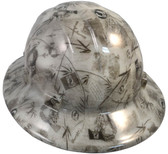 POW Hydro Dipped GLOW IN THE DARK Hard Hats Full Brim Style with Ratchet Suspensions