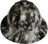 Hades Hydro Dipped GLOW IN THE DARK Hard Hats Full Brim Style with Ratchet Suspensions