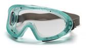 Pyramex Capstone Goggle ~ Green Frame ~ Anti Fog Clear Lens