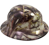 American Camo Hydro Dipped GLOW IN THE DARK Hard Hats Full Brim Style with Ratchet Suspensions