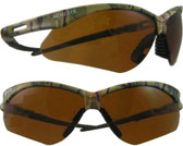 Jackson Nemesis CAMO Frame ~ Safety Glasses with Copper Lens