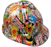 Hydro Dipped Hard Hats Sticker Bomb Small Size Hard Hat pic 1