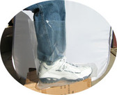 Plastic 6 mil Boot Covers (10 SAMPLE PACK)  pic 1
