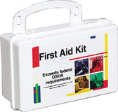 OSHA Compliant First Aid Kits ~ 10 Person, 62 Piece Bulk Kit, Plastic Case with Gasket
