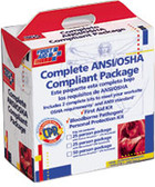 OSHA Compliant First Aid Kits ~ 25 Person Package With CPR Faceshield