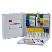 Restaurant First Aid Kit ~ 24 Unit. Metal Case