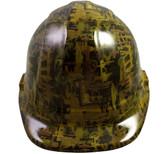 Oilfield Camo Yellow Hydro Dipped Hard Hats Cap Style