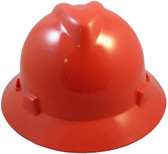 MSA V-Gard Full Brim Hard Hats with Staz-On Suspensions Standard Orange