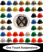 MSA V-Gard Full Brim Hard Hats with One-Touch Suspensions All Colors