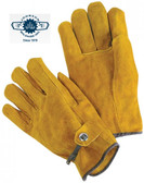 Unlined Grain Cowhide w/ Pull Strap Gloves Pic 1