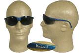 Pyramex Venture II Safety Glasses Blue Frame w/ Smoke Lens