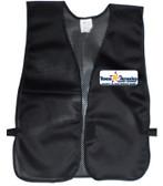 Black Safety Vests Multi Color Imprinting