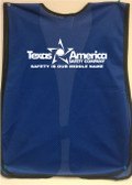 Blue safety vest Single color imprint back