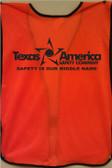 Imprinted Orange safety vests back