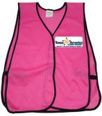 Pink Multi Color Safety Vests Imprinting Front