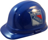 New York Rangers Hard Hats ~ Pin-Lock Suspension Oblique