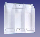3 Compartment Multi-Purpose Dispenser Clear  Pic 1