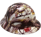 American Flag Camo Hydro Dipped Hard Hats Full Brim Style