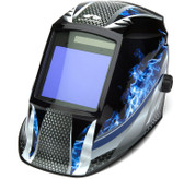 Pyramex Auto Dark Welding Hood with Blue Fire Design Main pic