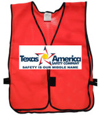 Add A Graphics Logo to Your Red Safety Vests (MULTI COLOR)